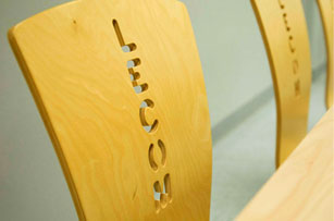 Image of chair with lecom sign